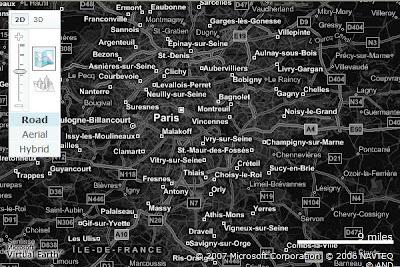 filtre graphique dans une carte virtual earth