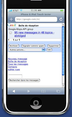 nouvelle version de google pour l'iphone