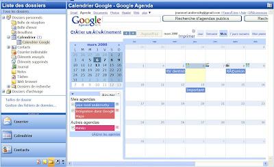 synchronisation google agenda avec outlook