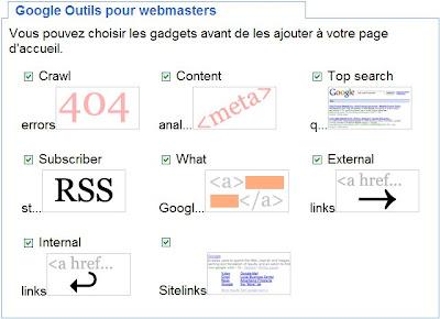 gadget igoogle outils pour webmasters