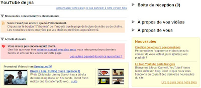tableau de bors youtube