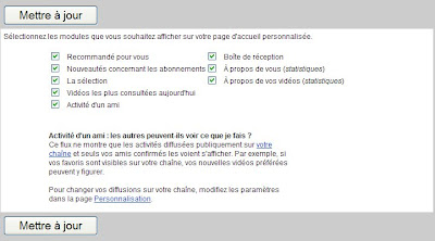 personnaliser youtube