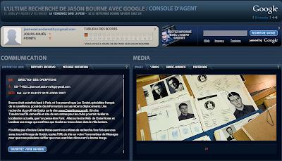 Ultime recherche de Jason Bourne avec Google