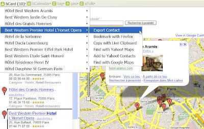 Utiliser les microformats avec l'API Google Maps