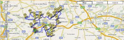 convertir une carte google maps en un itineraire TomTom