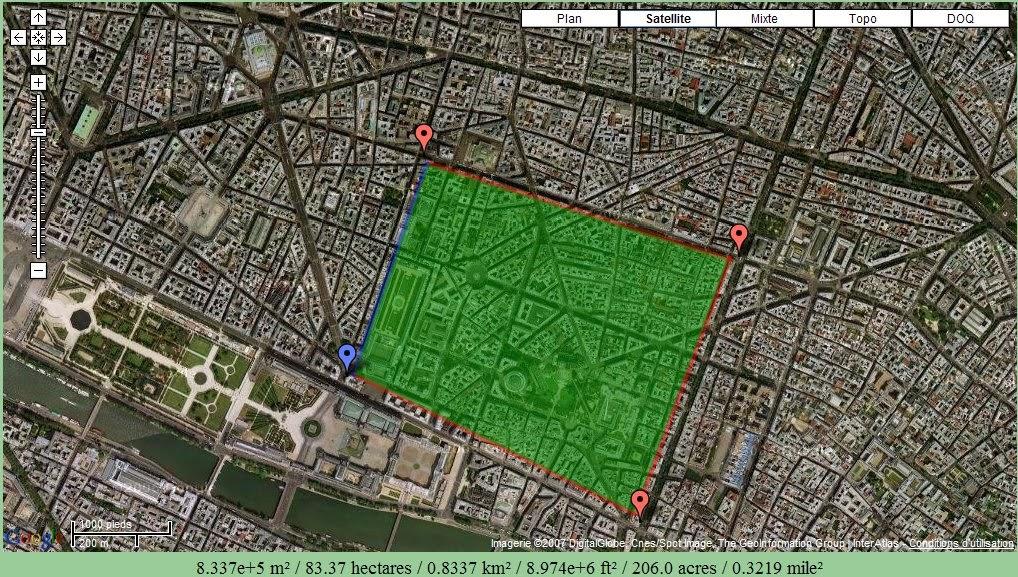 google xxl calculer une surface dans google maps. Black Bedroom Furniture Sets. Home Design Ideas