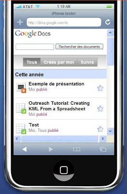 google mobile avec un iphone