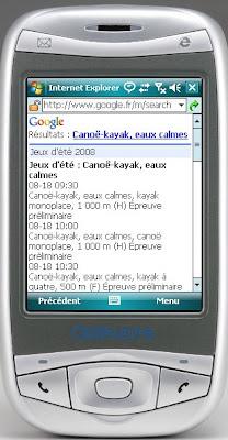 jeux olympiques dans google mobile