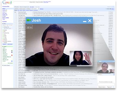 Chat vidéo et audio dans Gmail