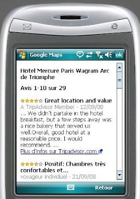 Google Maps pour mobiles avis des consommateurs
