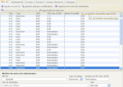 Google AdWords Editor en version 7.0