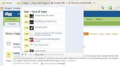 Les Webslices dans Internet Explorer 8