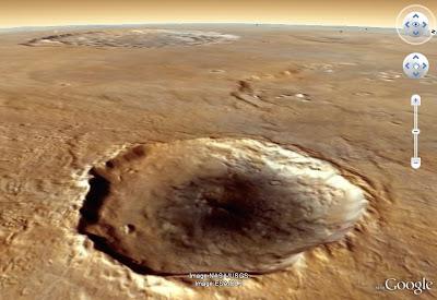 La planète Mars dans Google Earth