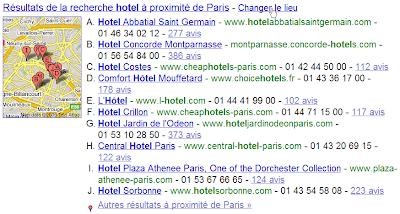 Géolocalisation des résultats dans Google