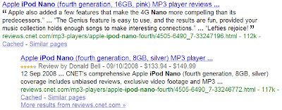 Google affiche des résultats extraites du Web sémantique