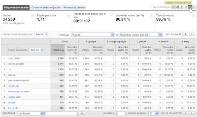 Tableaux croisés dynamiques dans Google Analytics