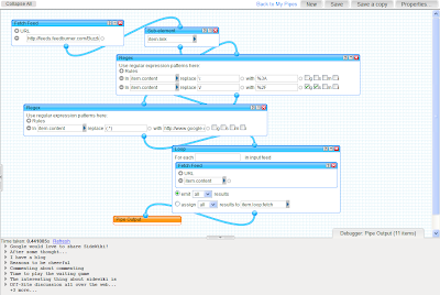 Google SideWiki avec Yahoo! Pipes