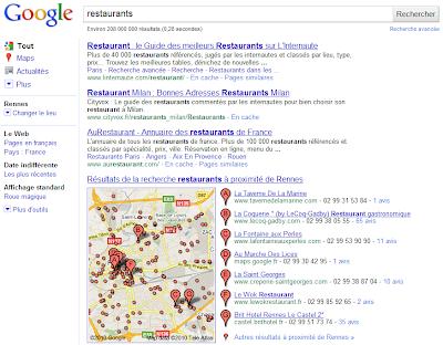 Google et la géolocalisation