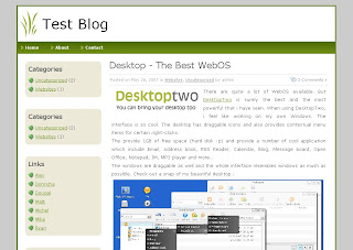 Free Download Blog Template: Simple Design - Green Bug