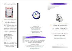 Programa. Taller de Redacción de Textos Científicos
