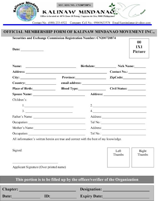 Official Membership and Volunteer FORM