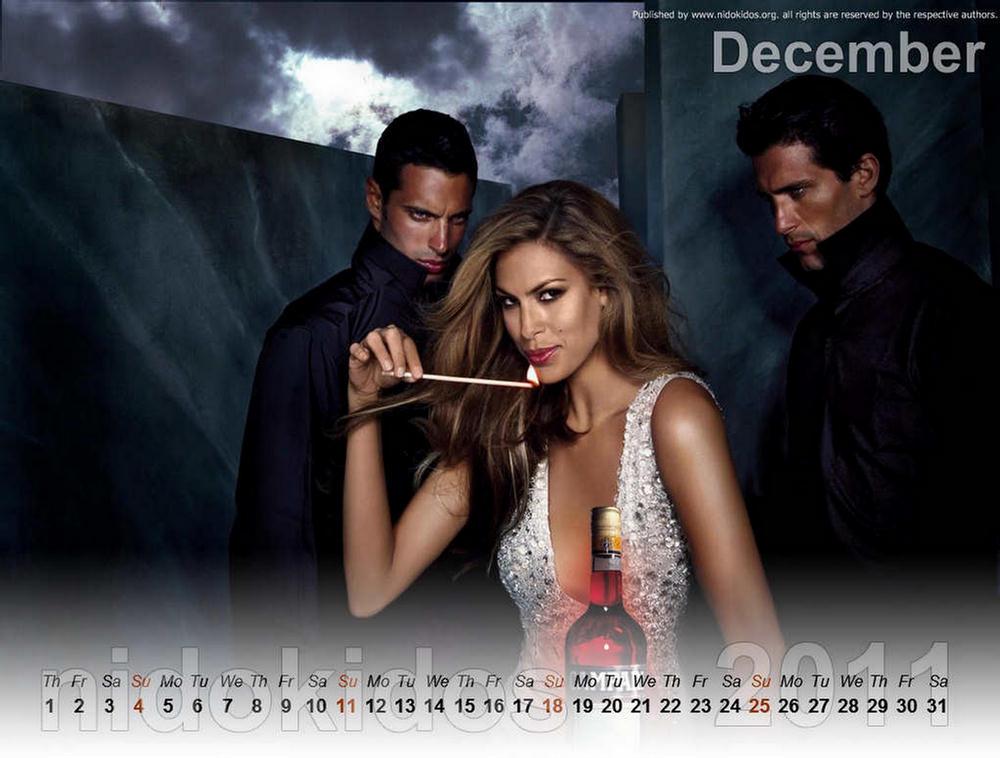 Eva Mendes Unofficial Calendar 2011