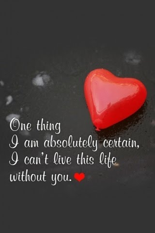 i cannot live without you poem