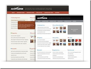 Download wordpress premium theme aggregator free web for News aggregator template