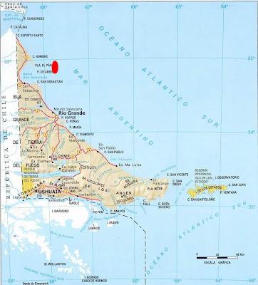 Mapa del Gasoducto de Magallanes