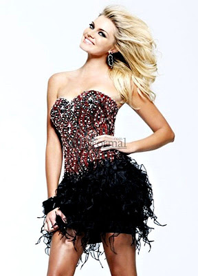 Precious Formals 2010 Prom Dress P3610 With Gunmetal Beading At Neckline