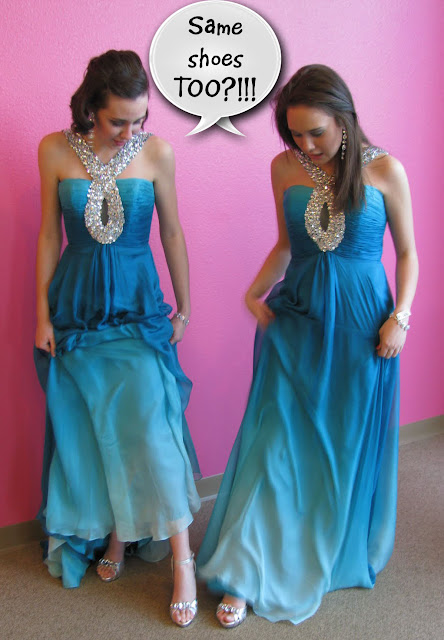 TJ Formal Dress Blog: Bethie and Savannah in the SAME DRESS!! Oh NO!!