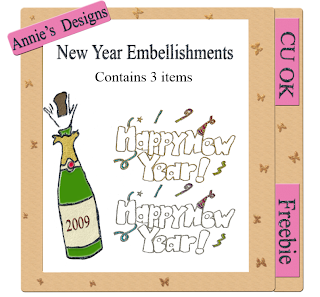 New Years Embellishments Preview+emb