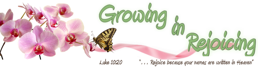 Growing in Rejoicing - Luke 10:20