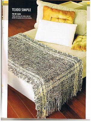 Angel telar telar hogar cubre sillon y pie de cama for Cubrepies de cama