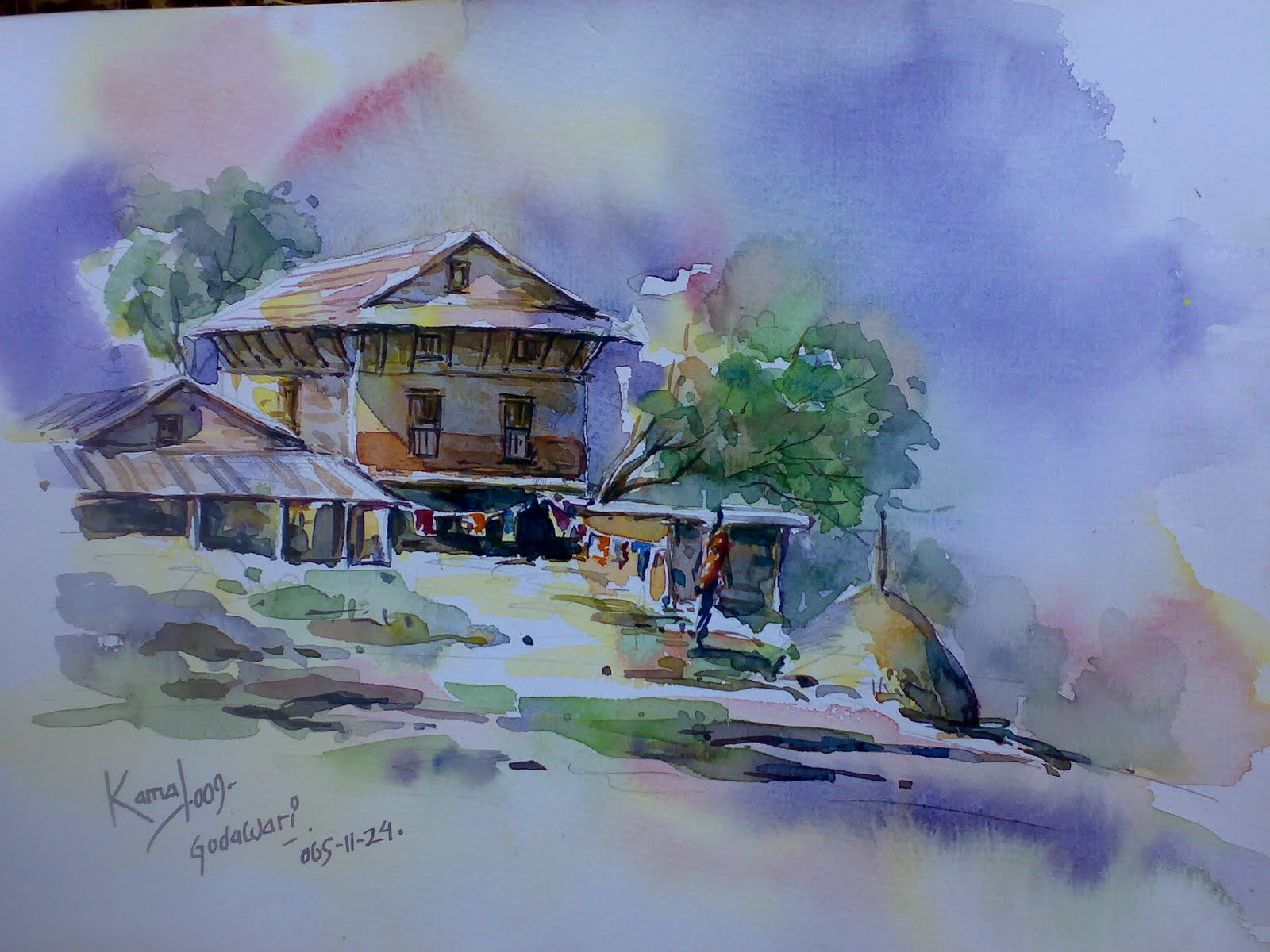 art and paintings by kamal gurung lalitkala fine art campus kathmandu