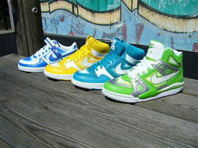 Nike Air Digs, Nike Vandal Low y Nike Court Force. spray grafitti