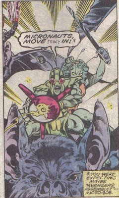 From Micronauts #56, Mantlo, Guice, Jones, and Grainger.
