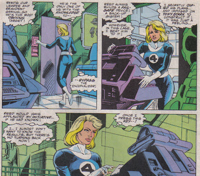 This is a pretty good scene, yet it's from the same crew that gave Sue a peek-a-boo '4' a few issues later.