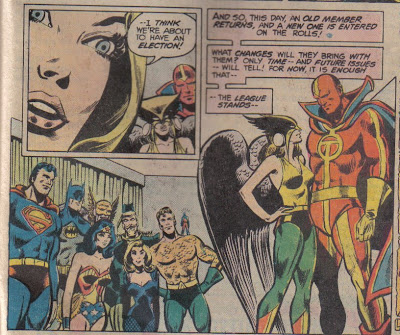 How short is Hawkgirl?  Well, when she's flying at you with a mace, she looks a lot taller...