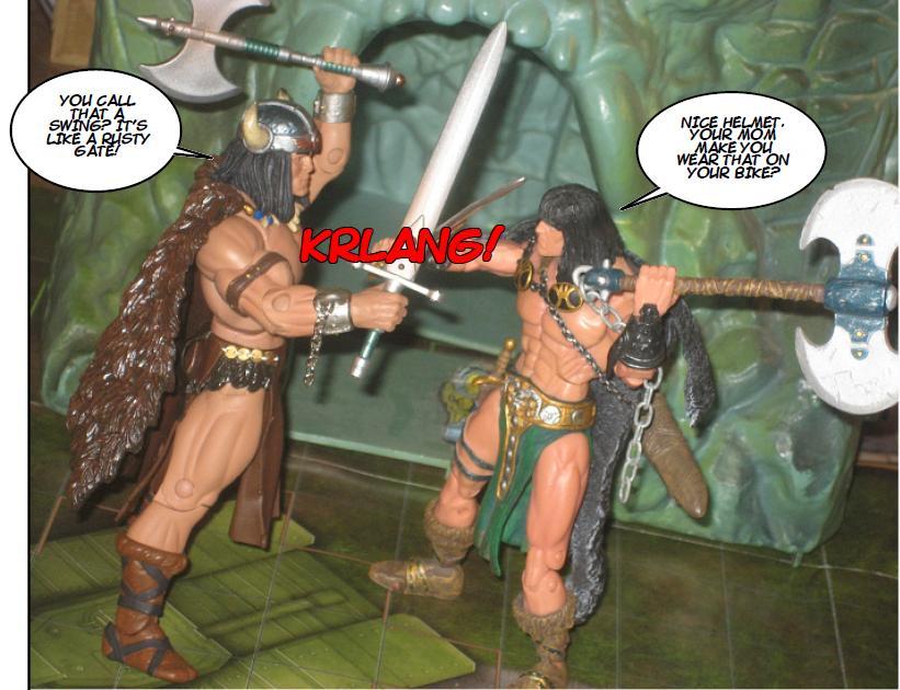 (Figura de ação] Conan e devorador Toy Bizz Vikor%2Bv%2BConan