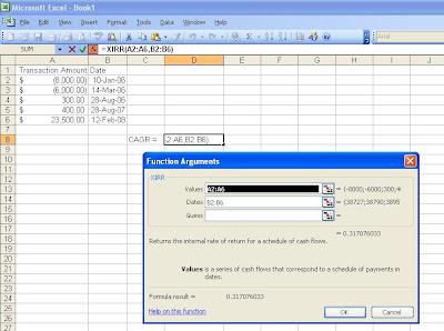 Excel function arguments