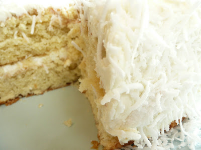 Cornstore Café: Fresh Coconut Layer Cake