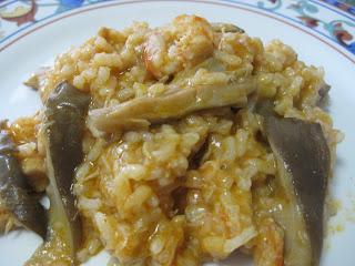 Arroz con pollo, setas y gambas Arroz+con+setas+001