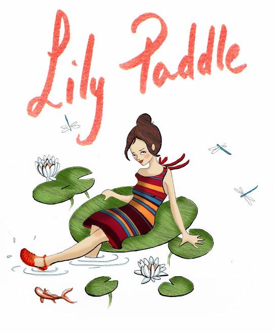 lily paddle :  illustration graphisme créations textiles et peinture