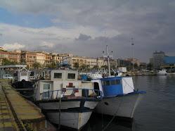 Barques de pescadors a port