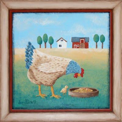 Tuppehøne og kylling
