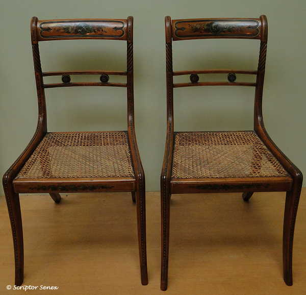 Edwards Library Chairs C1812 Attributed To Gillow U0026 Co. Made Of Painted  East Indian Satinwood. Descrobed On The Gillows Catalogue As Edwards  Library Chairs ...