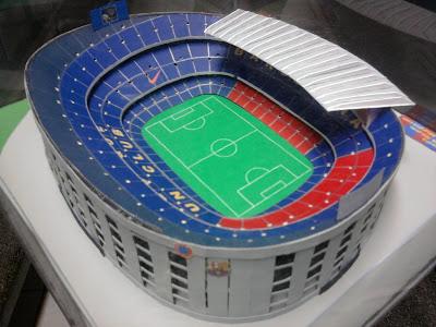 Estadios de futbol en maquetas