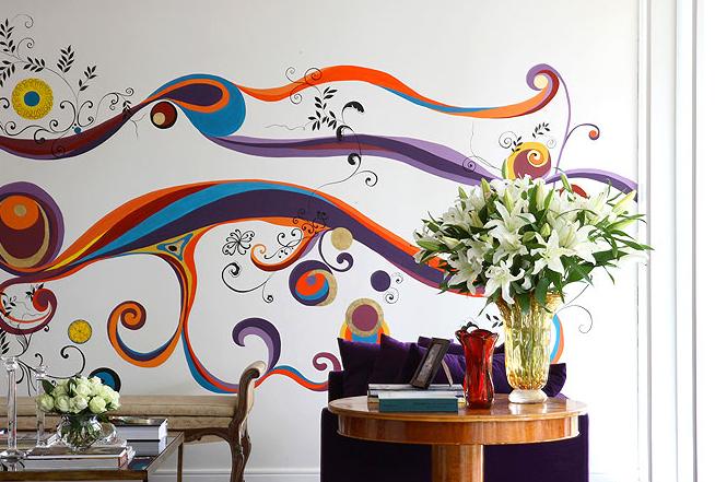 decoracao de interiores paredes pintadas: parede. O projeto da foto é do designer de interiores Marco Aurélio