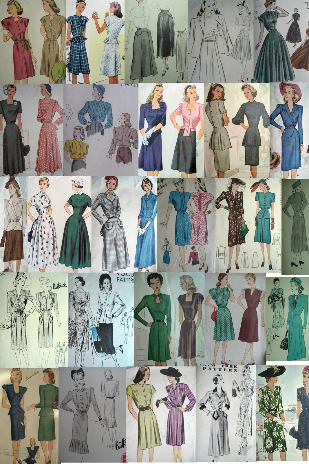 50 s style patterns patterns gallery